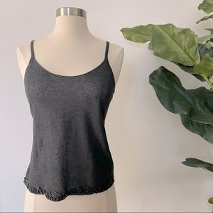 3/$20 Delicate Knit Tank with Button Bottom